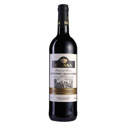 法国嘎那赤霞珠干红葡萄酒