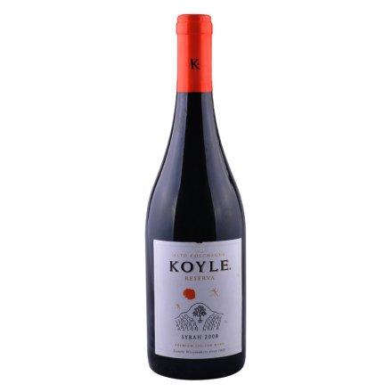 智利红酒柯莱窖藏西拉干红葡萄酒750ml