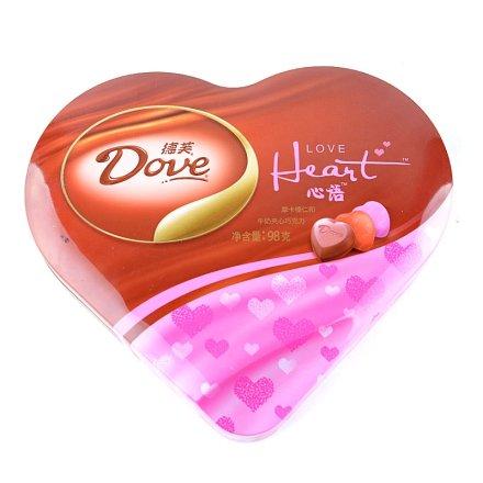 德芙心语巧克力礼盒铁盒装
