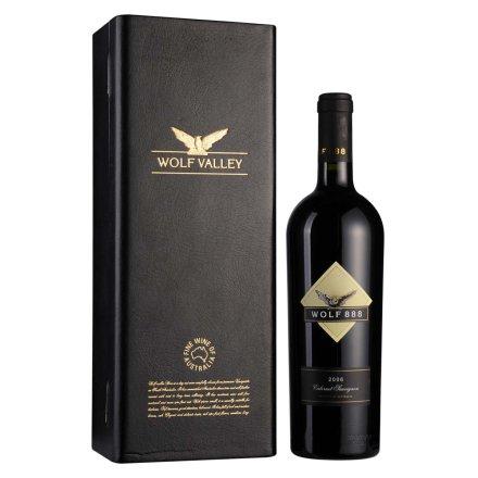 澳洲禾富888赤霞珠2006年干红葡萄酒皮盒装750ml