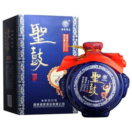 【清仓】42°湖南湘泉酒业(蓝)圣鼓酒500ml