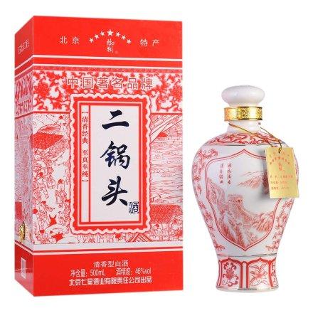 46°七星北京二锅头大红花瓶500ml