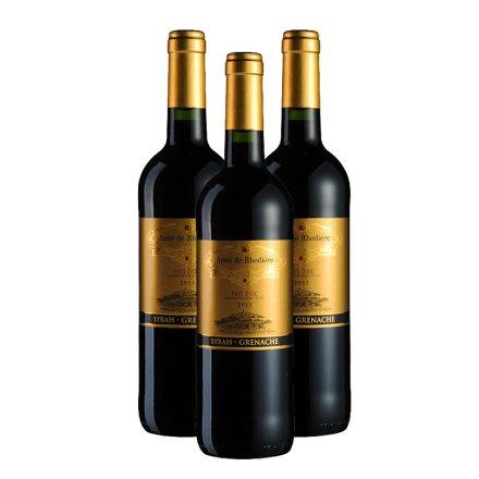 法国赫德安妮干红葡萄酒750ml(3瓶装)
