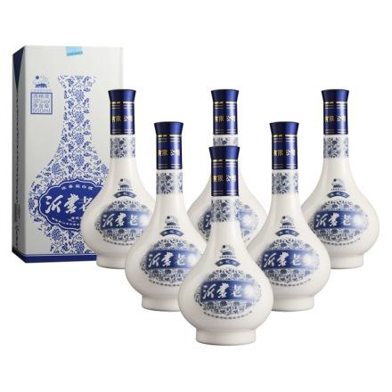 38°沂蒙老乡青花瓷500ml(6瓶装)