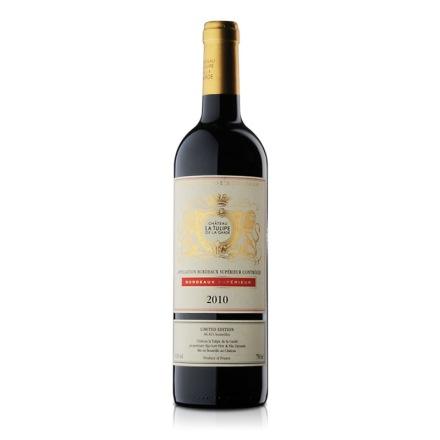 【清仓】法国进口红酒郁金香庄优质波尔多干红葡萄酒