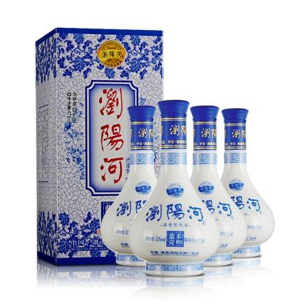 52°浏阳河柔和蓝瓷475ml(4瓶装)