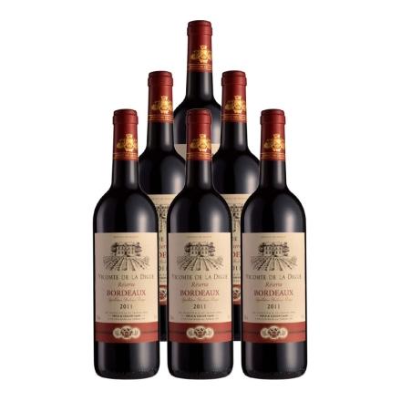 法国波尔多维康德AOC干红葡萄酒750ml(6瓶装)