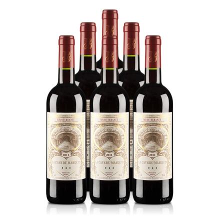 法国男爵窖藏精品2011干红葡萄酒(6瓶装)