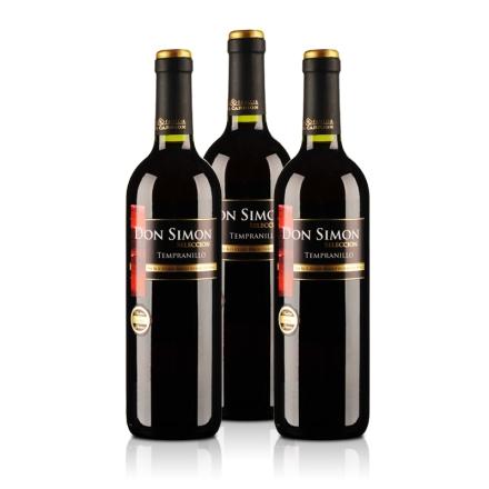 西班牙当西蒙精选干红葡萄酒750ml(3瓶装)