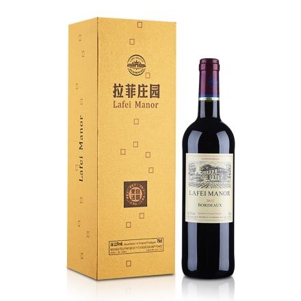 【清仓】法国拉菲庄园法莱利金冠干红礼盒750ml