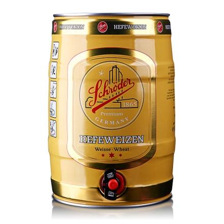 5.0°德国施罗德小麦啤酒5L