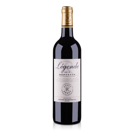 【清仓】法国拉菲传奇 2013 波尔多法定产区红葡萄酒750ml