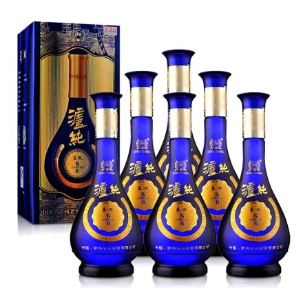 52°泸州老窖泸纯S6蓝瓶 500ml(6瓶装)