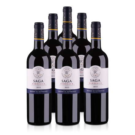 法国拉菲传说 2013 波尔多法定产区红葡萄酒750ml(6瓶装)