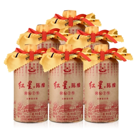 38°红星陈酿酒(封坛十)500ml(6瓶装)