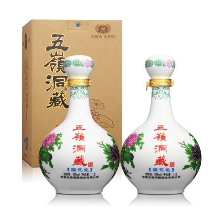 52°五岭洞藏国花瓷1500ml(双瓶装)