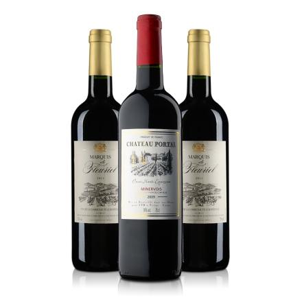 法国泰曼里斯酒庄伯塔堡干红葡萄酒750ml+法国富乐男爵干红葡萄酒750ml