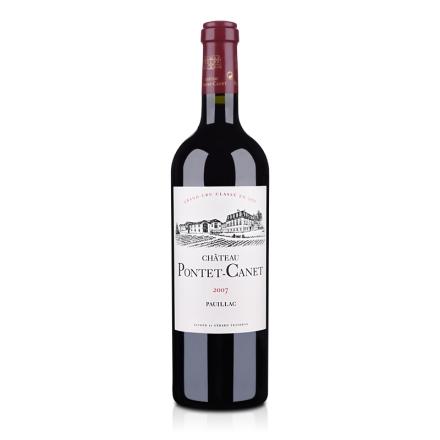 (列级庄·名庄·正牌)法国红酒宝得根酒庄2007干红葡萄酒750ml(又名:庞特卡内、庞特卡莱、宝望)
