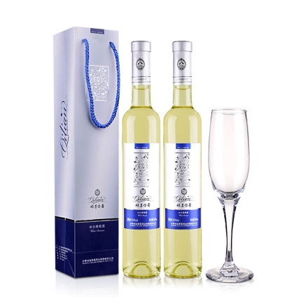 祁连传奇冰白葡萄酒(冰酒)500ml(双瓶装)+精品香槟杯