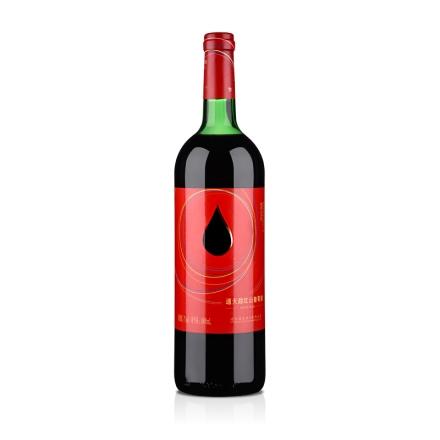 中国通天红色时代甜红山葡萄酒1000ml