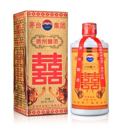 【老酒】38°茅台集团贵州囍酒500ml(2003-2004年)