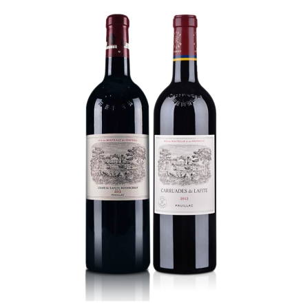 拉菲古堡正牌+拉菲古堡副牌2012干红葡萄酒