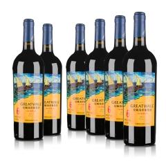 中国长城海岸传奇·扬帆解百纳干红葡萄酒750ml(6瓶装)