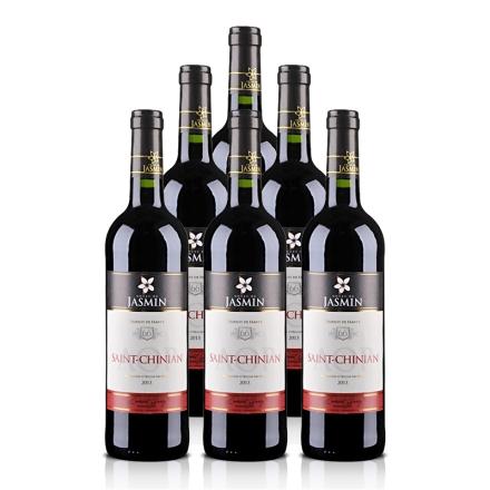 法国红酒整箱AOP茉莉花 - 圣•夕阳干红葡萄酒750ml*6支装