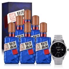 42°洋河特曲(珠光蓝)500ml(6瓶装)+罗西尼手表(专属订制版)