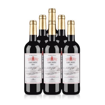 法国整箱红酒法国萨拉斯干红葡萄酒(6瓶装)