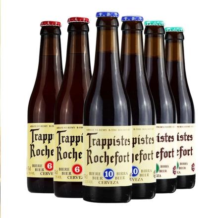 比利时进口罗斯福6号8号10号啤酒组合修道院精酿啤酒330ml*6