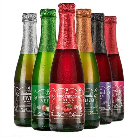 比利时进口利德美思(林德曼)水果啤酒六口味装250ml*6