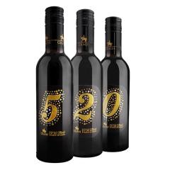 法国格拉芙定制数字520组合干红葡萄酒375ml*3支