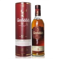 40°英国格兰菲迪15年单一麦芽威士忌700ml