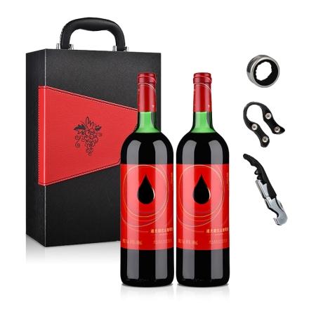 通天红色时代甜红山葡萄酒1000ml*2(双支礼盒)