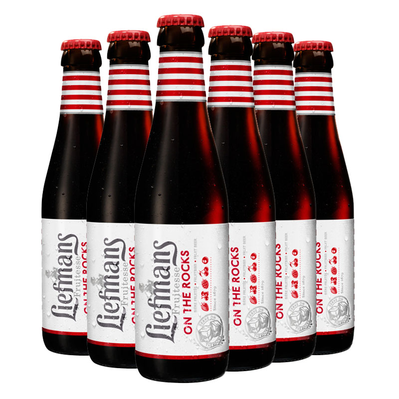 比利时进口乐蔓水果啤酒果味精酿(liefmans)250ml*6