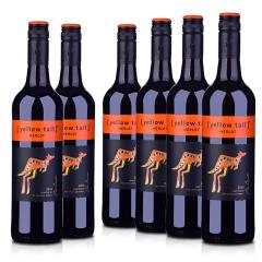 澳洲整箱红酒澳大利亚黄尾袋鼠梅洛红葡萄酒750ml(6瓶装)