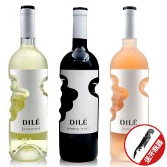 意大利天使之手干红桃红甜白葡萄酒750ml*3瓶装