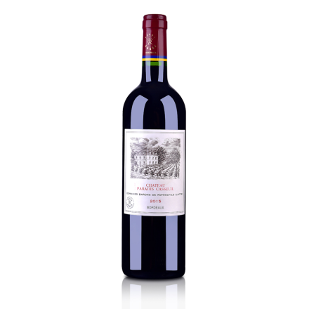【清仓】法国红酒法国拉菲凯萨天堂古堡波尔多法定产区红葡萄酒750ml