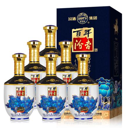 53°汾亚虎娱乐杏花村百年汾杏纯酿475ml(6瓶)