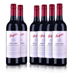 澳洲整箱红酒澳大利亚奔富酒园Bin389赤霞珠西拉螺旋盖干红葡萄酒750ml(6瓶装)