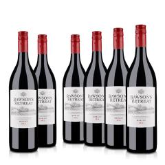澳洲整箱红酒澳大利亚奔富洛神山庄梅洛干红葡萄酒1000ml(6瓶装)