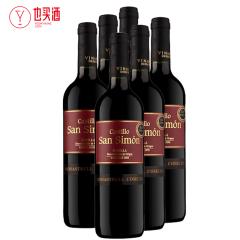 西莫干红葡萄酒750ml  6支装