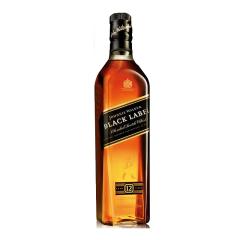 英国进口 烈酒 黑方洋酒鸡尾酒基酒 40度尊尼获加黑牌威士忌700ml