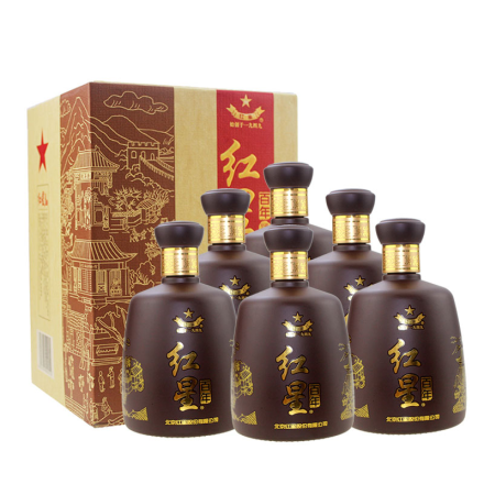 43°红星二锅头百年老酒500ml(6瓶装)