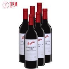 奔富寇兰山赤霞珠干红葡萄酒750ml  6支装