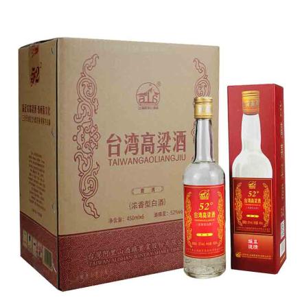 52°台湾阿里山高粱酒贵宾450ml(6瓶装)