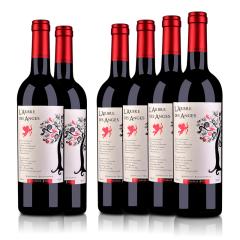 【忘忧酒馆】法国整箱红酒法国(原瓶进口)法圣古堡天使树干红葡萄酒750ml(6瓶装)