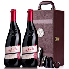 法国进口红酒教皇新堡菲奥庄园lafiole莱馥尔隆河丘干红葡萄酒红酒礼盒装750ml*2