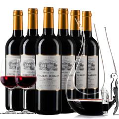 【中级庄】法国原瓶进口红酒梅多克明星庄坚果城堡2009干红葡萄酒6支装 750ml*6